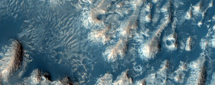 Layered Outcrops in Firsoff Crater