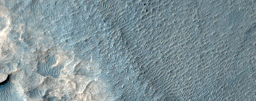 Possible Clay and Sulfate or Zeolite Deposit in Crater
