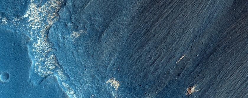 Mass Wasting Chutes in Valles Marineris