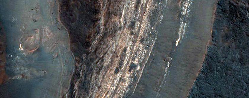 Possible Evaporites Near Fan in Coprates Chasma