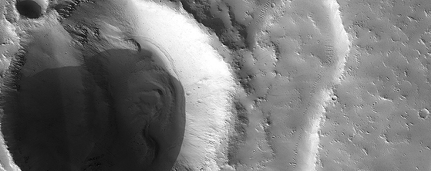 A Crater Gets Torn in Half