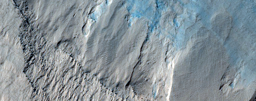 Alcoves on South Polar Layered Deposit Scarp