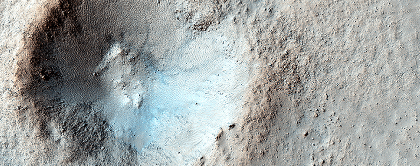 Small Mid-Latitude Crater