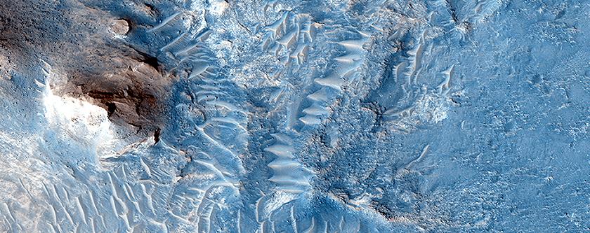Creste ed una valle con fronti di flusso