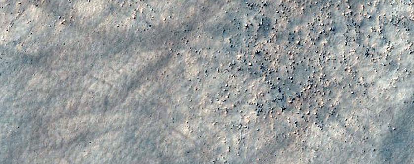 1-Kilometer Diameter Crater