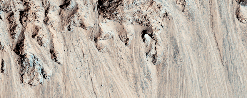Crater with Debris Aprons in Tyrrhena Terra