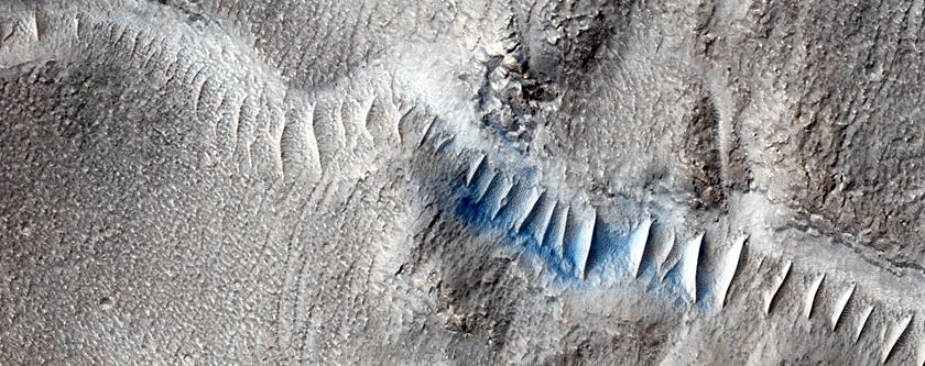 Valleys in Tyrrhena Terra