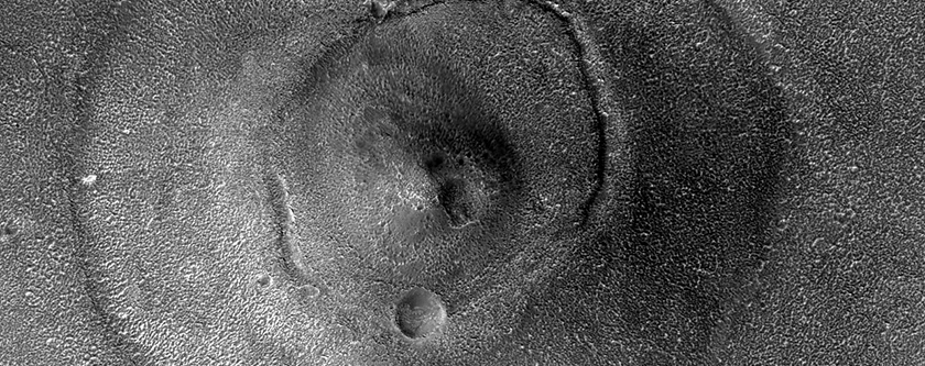 Hill with Concentric Albedo Patterns in Cydonia Region