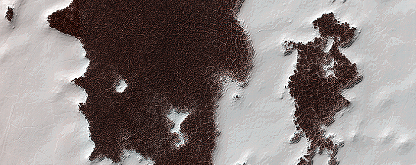 Polygonal Surface Patterns at the South Pole