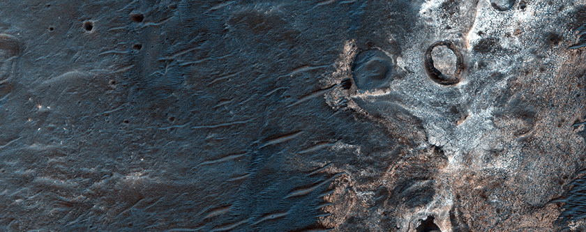 Light-Toned Deposits in Crater North of Eberswalde Crater
