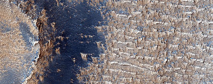 Яркие дюны на плато Сирия