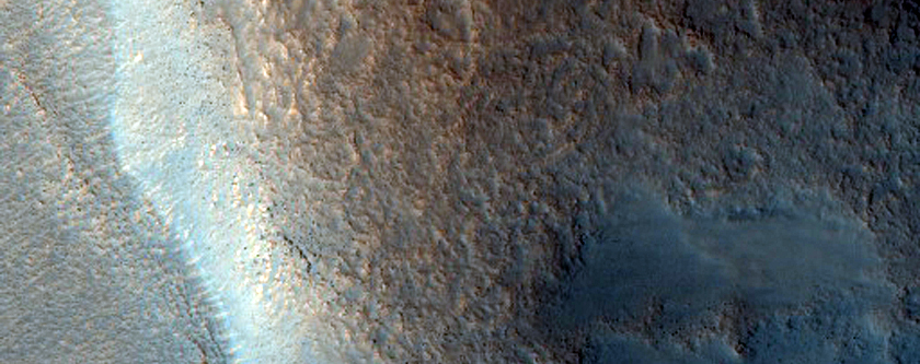 Gullies in Well-Preserved Crater in Northern Arabia Terra