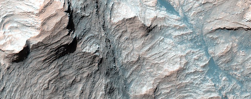 Beautiful Layers in the Central Uplift of Mazamba Crater