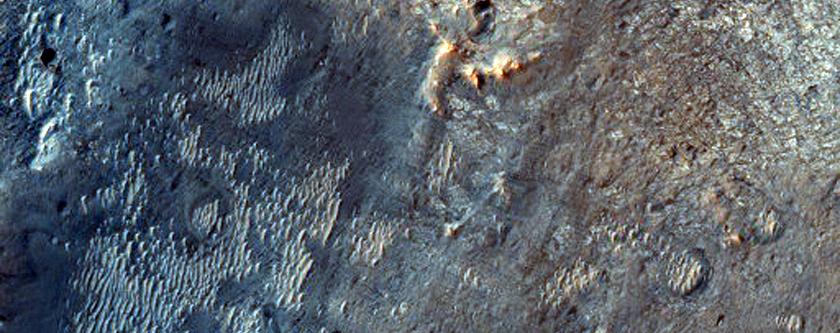 Meridiani Planum Crater Ejecta