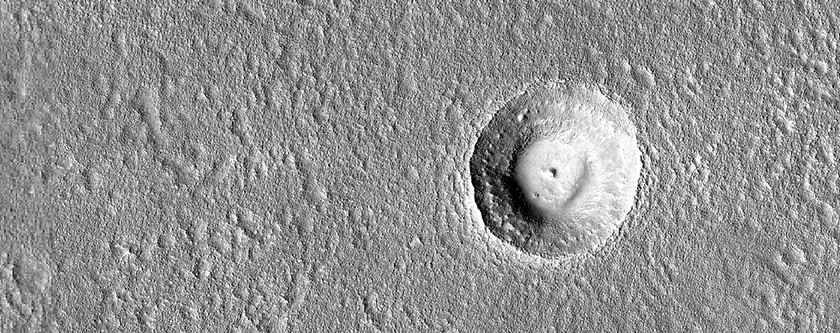 Possible Terraced Crater in Arcadia Planitia