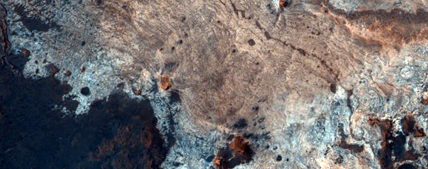 Layer and Color Boundaries at Mawrth Vallis