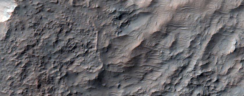 Bedrock North of Hellas Planitia