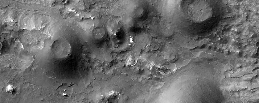 Cluster of Cones with Summit Depressions in Coprates Chasma