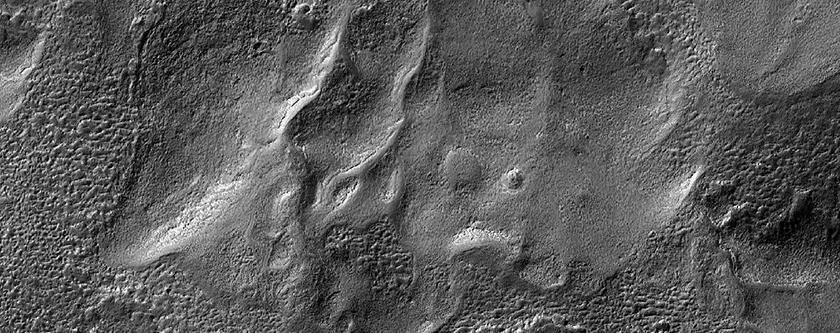 Flow Features in Cruls Crater