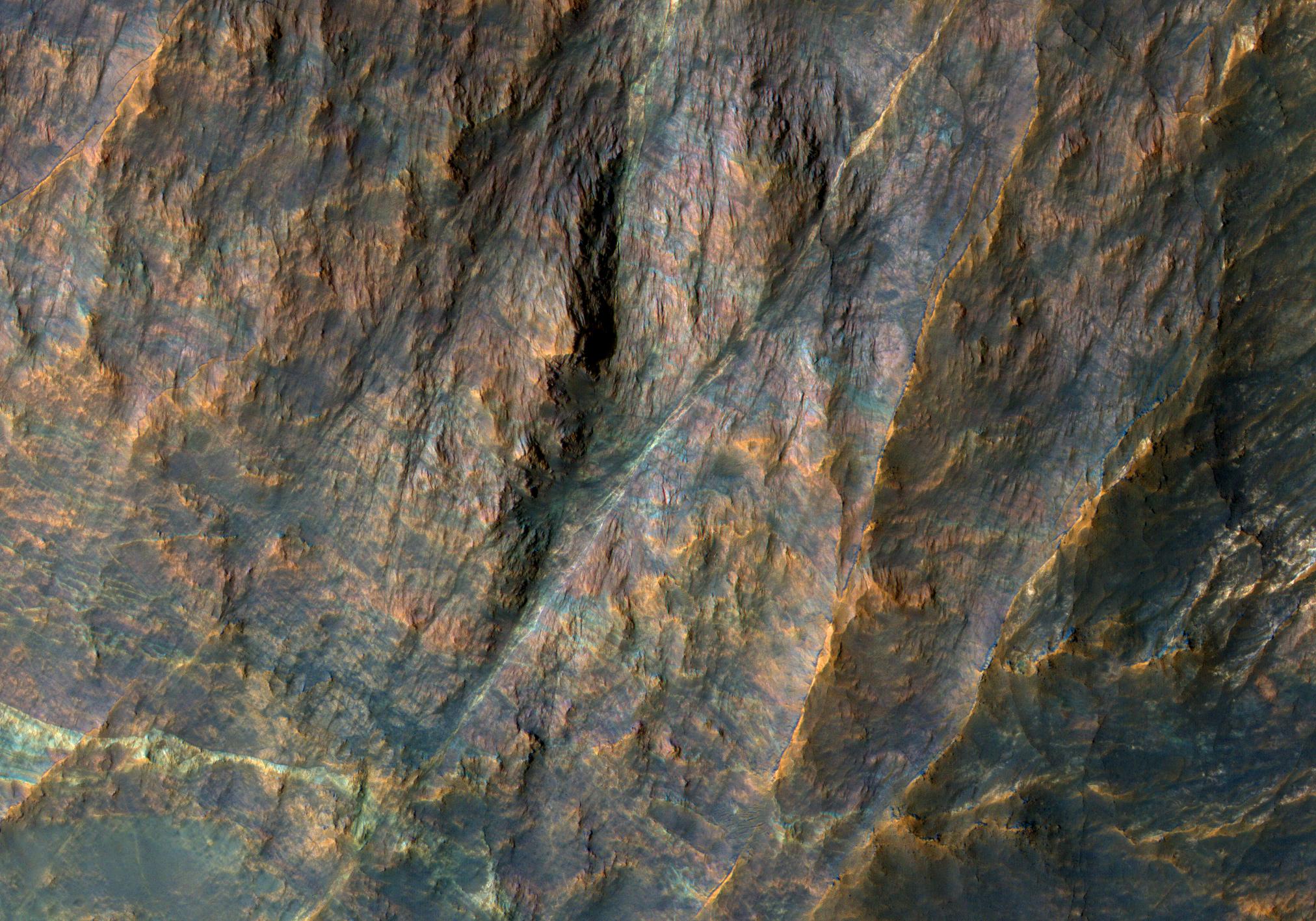 Hirise lecho de roca bandeado en terra sabaea esp - Colores sanitarios roca ...