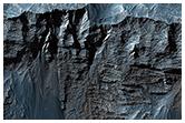 Dettagli di falde in formazioni di roccia stratificata