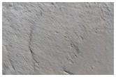 בורות ליד פסגה של הר אולימפוס מונס (Olympus Mons)