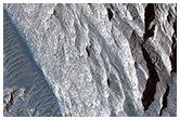 Sandstone Cliffs and Hematite Lag Deposits of Ophir Mensa