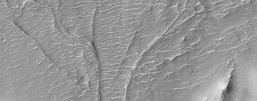 An Alluvial Fan in a Low-Latitude Crater