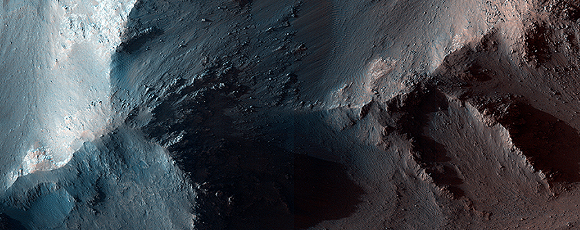 RSLs and Colorful Fans along Coprates Chasma Ridge