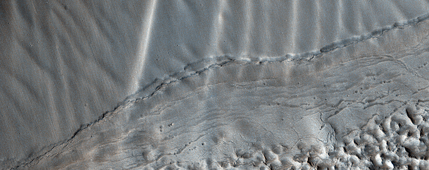 Rippled Surfaces on a Slope in Coloe Fossae