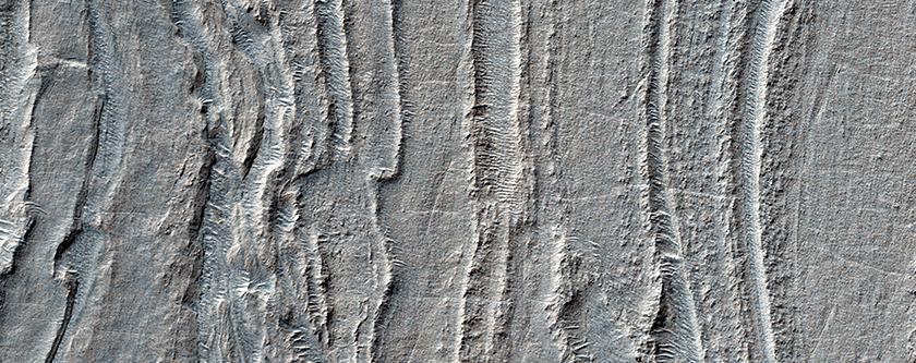Banded Ridges in Hellas
