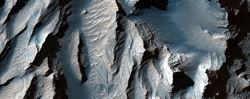 The Obliquity of Mars (Periodic Bedding in Tithonium Chasma)