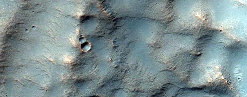 Alluvial Fan in Crater in Hellas Region