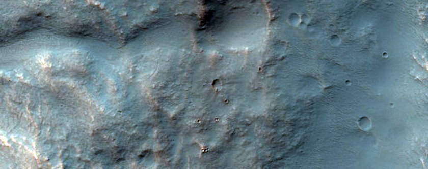 Hanging Valley in Icaria Planum