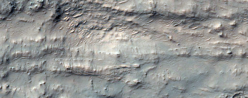 Possible Hydrated-Silica-Bearing Material in Northwest Hellas Planitia