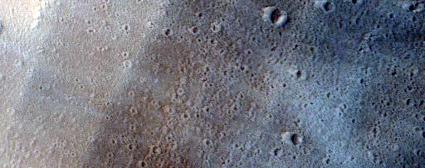 Western Margin of Olympus Mons