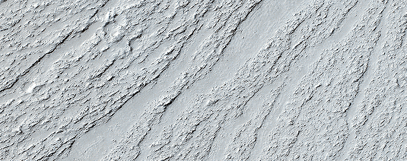 Chevrons on a Flow Surface in Marte Vallis