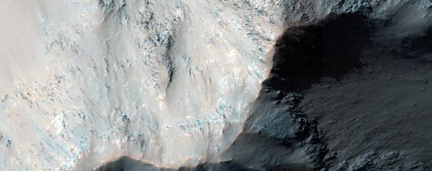 Light-Toned Deposits along Coprates Chasma Wallrock