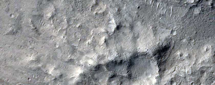 Central Features of Impact Crater