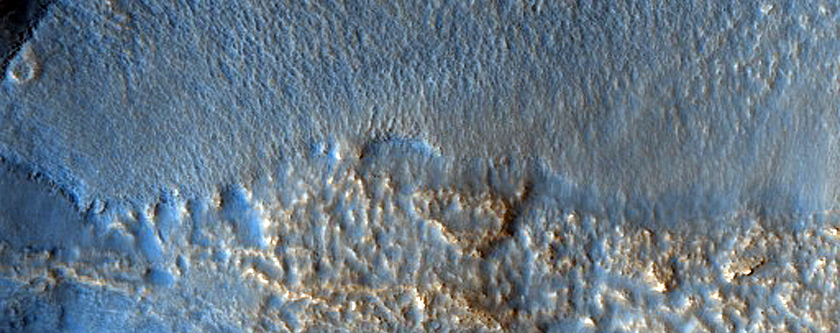 Wall of Davies Crater