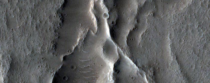 Crater Floor Features in Tempe Terra
