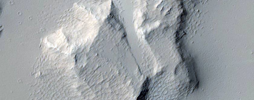 Impact on Ceraunius Fossae