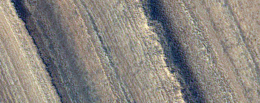 Layered Fill in Udzha Crater