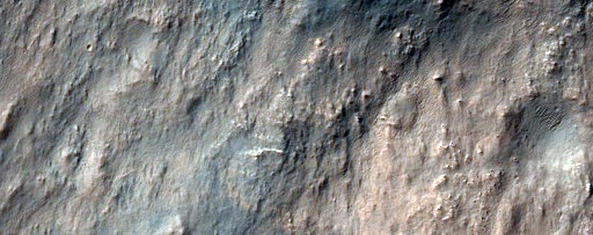 Possible Chlorite-Bearing Knob in Northwest Hellas Region