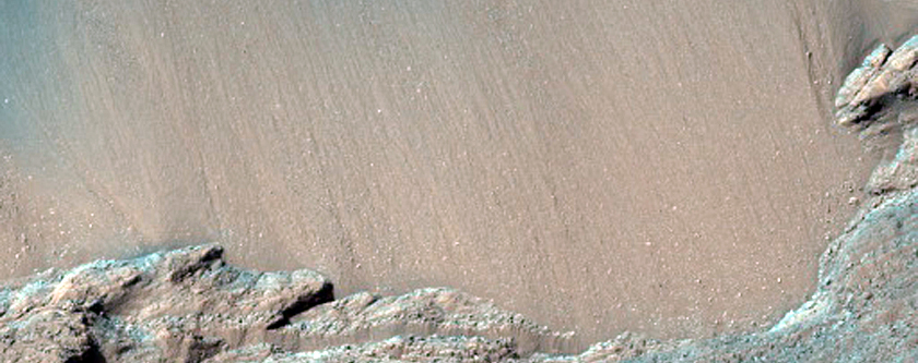 East Melas Chasma Landslide Scarp