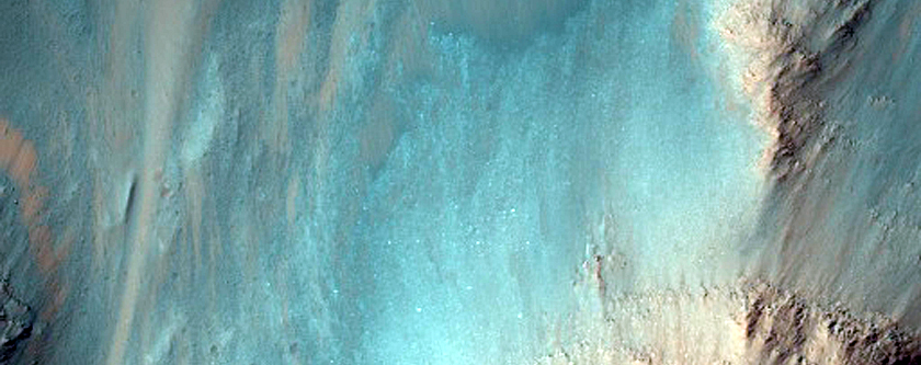 Low Albedo Wall Spurs in Coprates Chasma