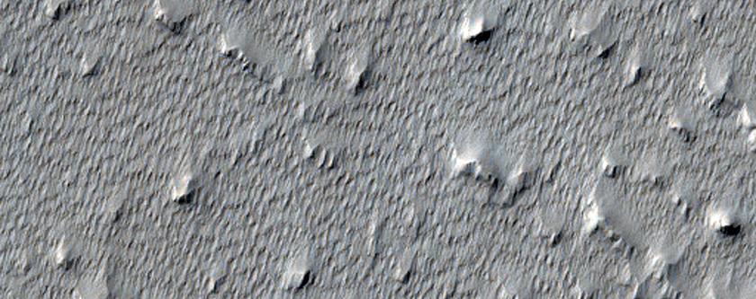 Terrain Features Near Arsia Mons