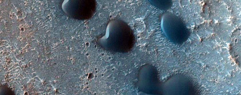 Cerberus Region Intra-Crater Dune Field