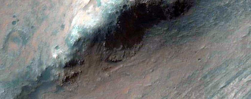Steep Slopes in West Melas Chasma