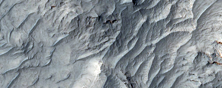 Layered Rocks of Ophir Mensa